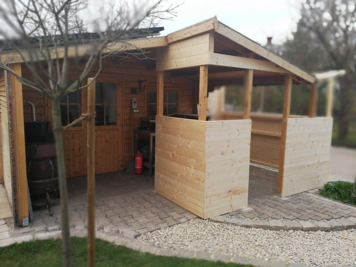 Outdoor Küche Im Gartenhaus : Anbau outdoorküche an gartenhaus
