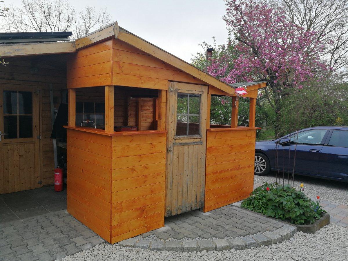 Gartenhaus Mit Outdoor Küche : Raccoon saloon rustikal gartenhaus miami von traditions
